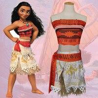 Princess Moana Movie Costume For Kids Moana Princess Cosplay Costume Dress Children Halloween Costume Girls Party