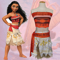 Princess Moana Movie Costume For Kids Moana Princess Cosplay Costume Dress Children Halloween Costume Girls Party