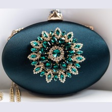 Women Fashion Flower Crystal Clutch  Evening Bags (8 colors)
