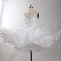 RSW837 Organza Mini Puffy Tutu Short Wedding Dress