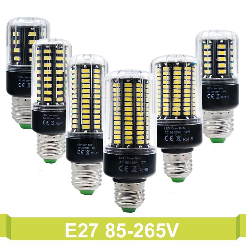 E27 E14 85V-265V No Flicker Constant Current <font><b>5736</b></font> SMD More Bright 5730 5733 <font><b>LED</b></font> Corn lamp Bulb light Chandelier Candle bombillas