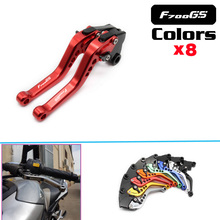Hot sell Logo(F700 GS) CNC Adjustable 2 finger Short Motorcycle Brake Clutch Levers For BMW F700GS 2013 2014 2015 2016 2017