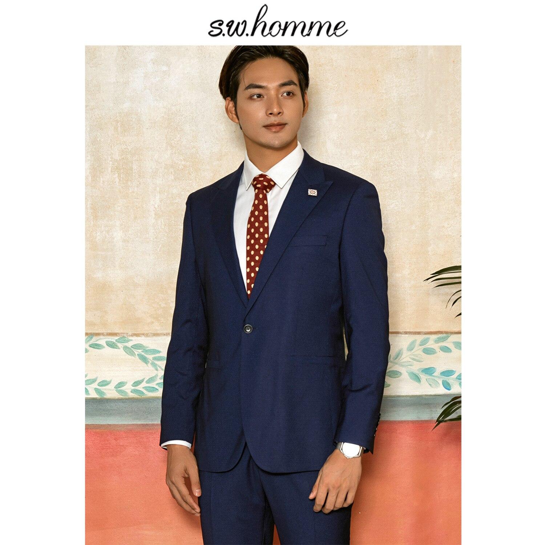 Suits & Blazers Cheap Sale Oscn7 2019 2 Colour Blue Plain Casual Korea Customize Suits Slim Fit Leisure Tailor Made Mens Suit S-wt-0914-40a S-wt-0914-40b