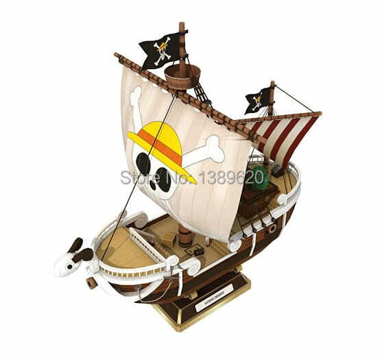Paper Model Anime One Piece Going Merry 45cm High 3D paper puzzles diy toys