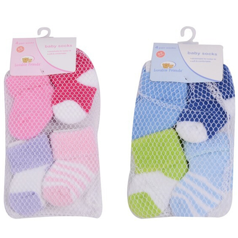 4 Pairslot Baby Newborn Socks 0-3 Months Baby Girl and Boy Cotton Warm Winter Socks for Children