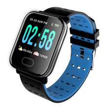 Купить с кэшбэком Fitness Smart Watch A6 Heart Rate Blood Pressure Monitor Smart Bracelet Message Call Reminder Men Sport Watch for IOS Android