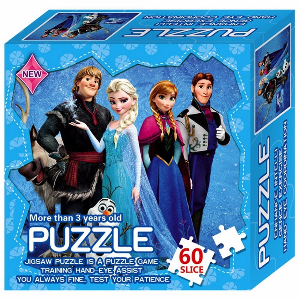 Paper Jigsaw Puzzles Hero Princess Elsa Educational Puzzle For Children Kids Toy Brain Training Game Toys For Children Baby Gift