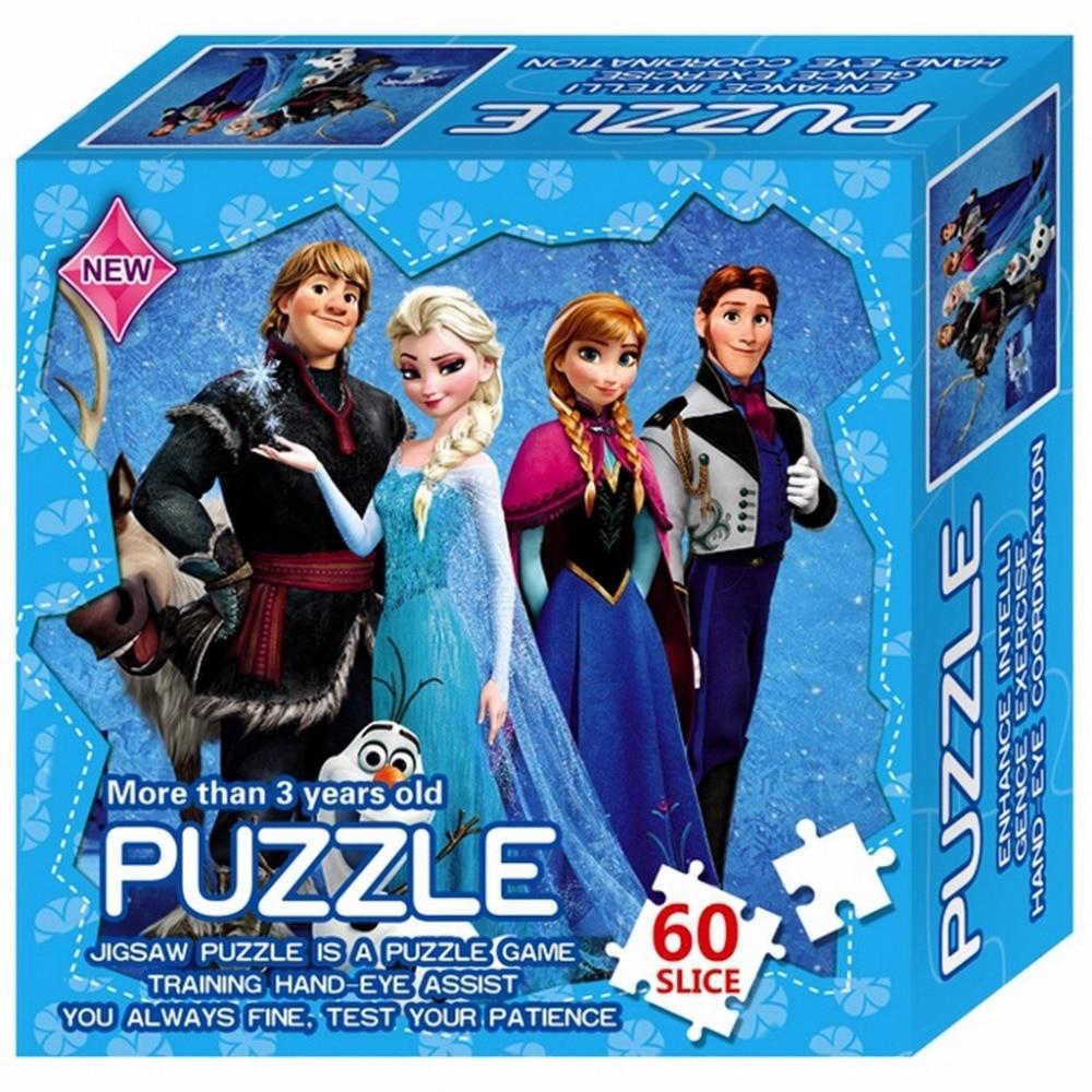 Paperi Jigsaw Puzzles Hero Prinsessa Elsa Oppiminen Palapeli lapsille Lasten lelu Aivokoulutus Pelilelut lapsille Vauvan lahja
