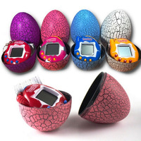 Kids Electronic Virtual Pet Machine E pet Dinosaur Egg Toys Cracked Eggs Cultivate Game Machine for Children Boy Girls