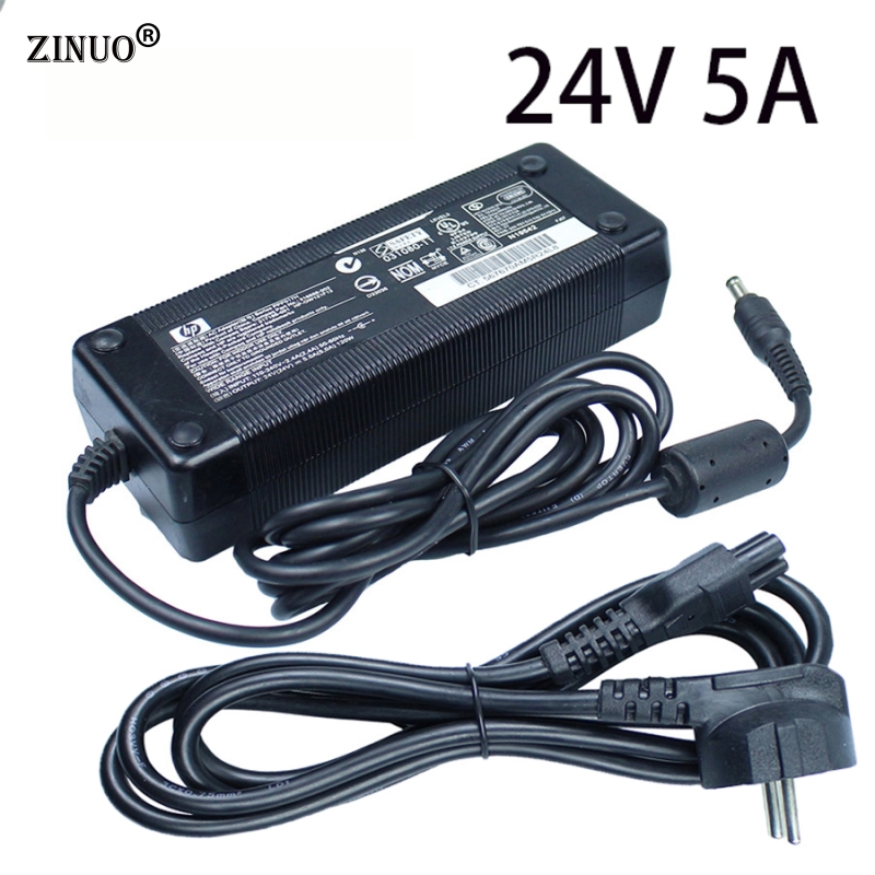 ZINUO DC 24V 5A Power Supply Adapter Switching Transformer Charger For 5050 Led Strip Driver Converter EU/US/UK/AU Plug