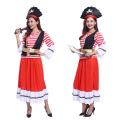 Free shipping Halloween costume stage costumes adult female Pretty Lady Pirate Captain Costume pirate role-playing