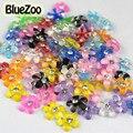 BlueZoo Nuevo 100 unids Colores Mezclados Forma de La Flor Del Arte Del Clavo Decoración de La Resina Para DIY 3D Nail Art Puntas de Las Uñas Accesorios
