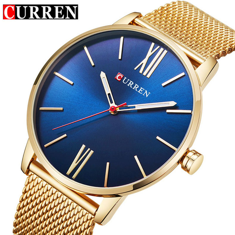 2018 Top Brand CURREN Men Simple Quartz Watches Mens Fashion Stainless Steel Waterproof Watch Man Analog Clock Relogio Masculino relogio masculino curren watch men luxury stainless steel brand analog quartz watches casual sport waterproof clock mens watches