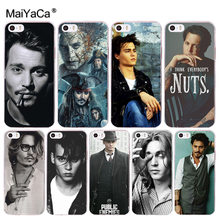 MaiYaCa johnny depp Coque Shell Phone Case for Apple iPhone 8 7 6 6S Plus X 5 5S SE XS XR(China)