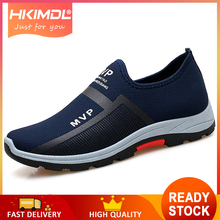 HKIMDL 2019 Spring Sneakers Men Casual Shoes Air Mesh For Loafers Black Fashion Mens Trainers Sapato Masculin