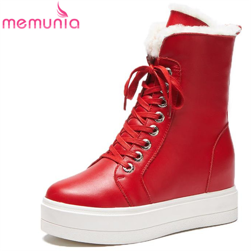 MEMUNIA 2018 new arrive genuine leather boots fashion warm winter boots simple ankle boots casual platform shoes womanMEMUNIA 2018 new arrive genuine leather boots fashion warm winter boots simple ankle boots casual platform shoes woman