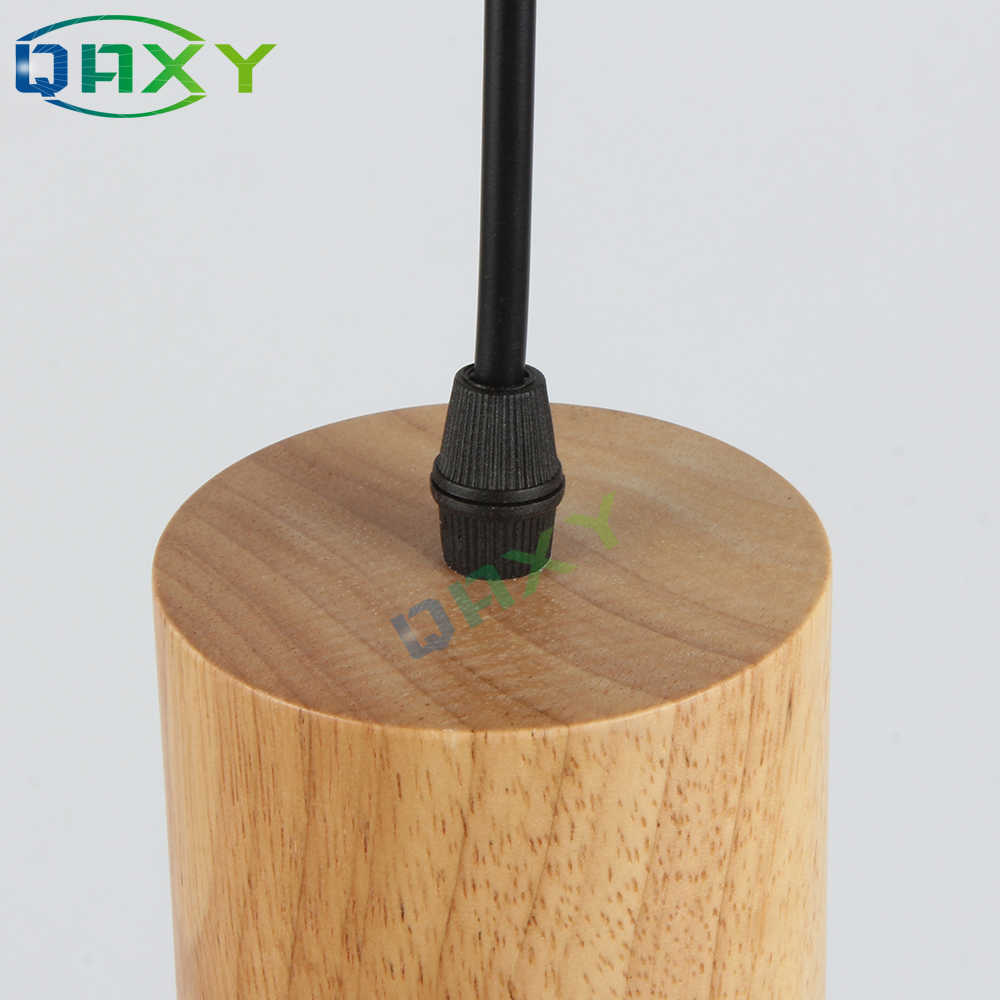 E27 креативный простой деревянный подвесной светильник Led черный/белый подвесной светильник металлический кухонный Бар Отель Лампа для спальни Suspendu [D7567]