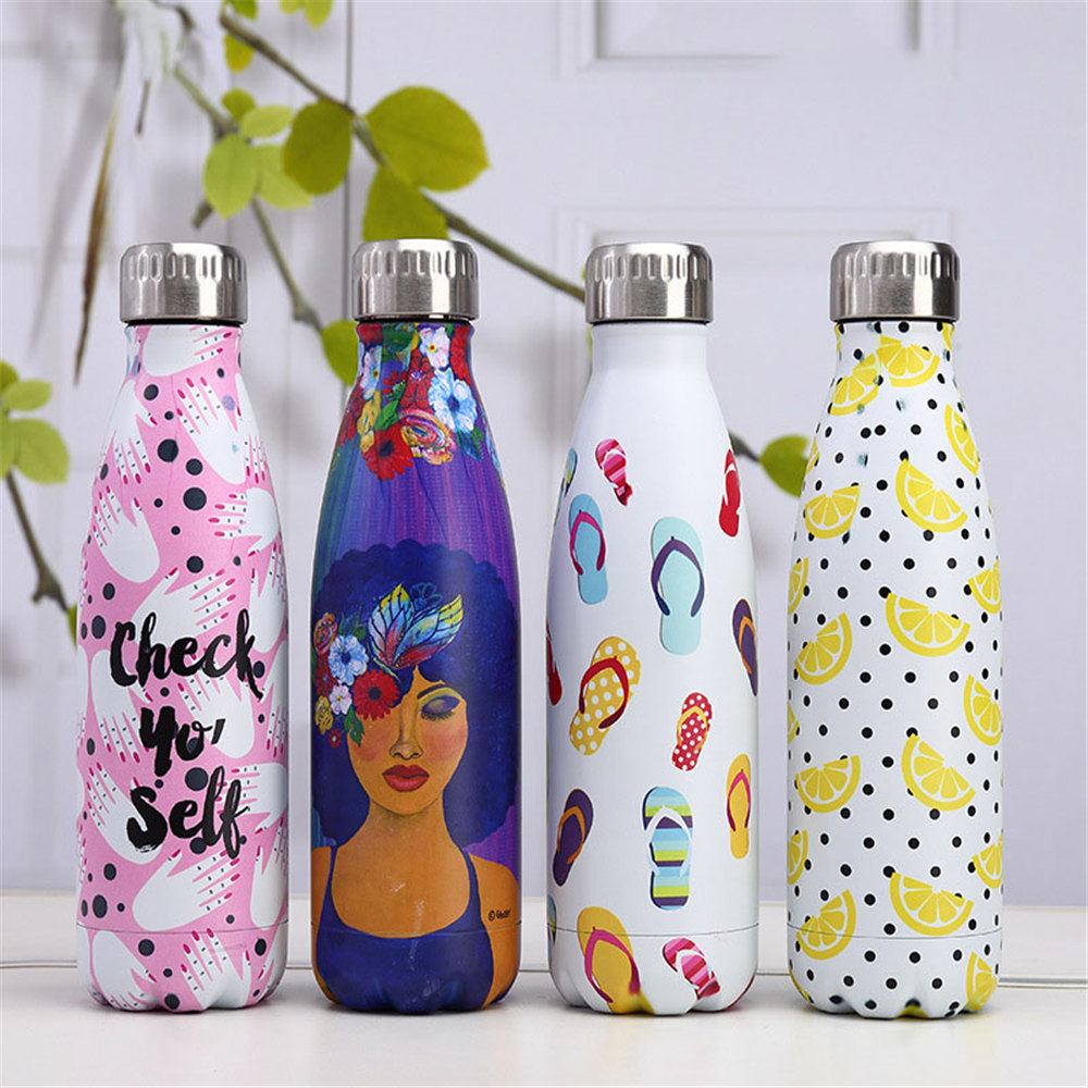 Fashion Designer Water Bottle Drink Bottle 500ml Stainless Steel Beer Tea Coffee Thermos Bottle Travel Sport Insulated Cup Gift Water Bottles Aliexpress