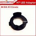 10 pcs adaptador Cerato K3 levou H7 conduziu faróis do carro 100 W R3 lâmpada led soquete adaptador clipe retentor H7 base levou acessórios do carro