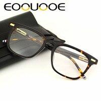 EOOUOOE Brand Design Women Men Unisex Glasses Retro Acetate Spectacles Oculos Clear Lens Eyewear Gafas Opticas Glasse Frame