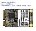 Kingdian hot hd ssd de 32 gb msata sata iii 6 gb/s internal solid Unidade de Disco Rígido de estado MSATA para PC Desktop Laptop M100 32 GB