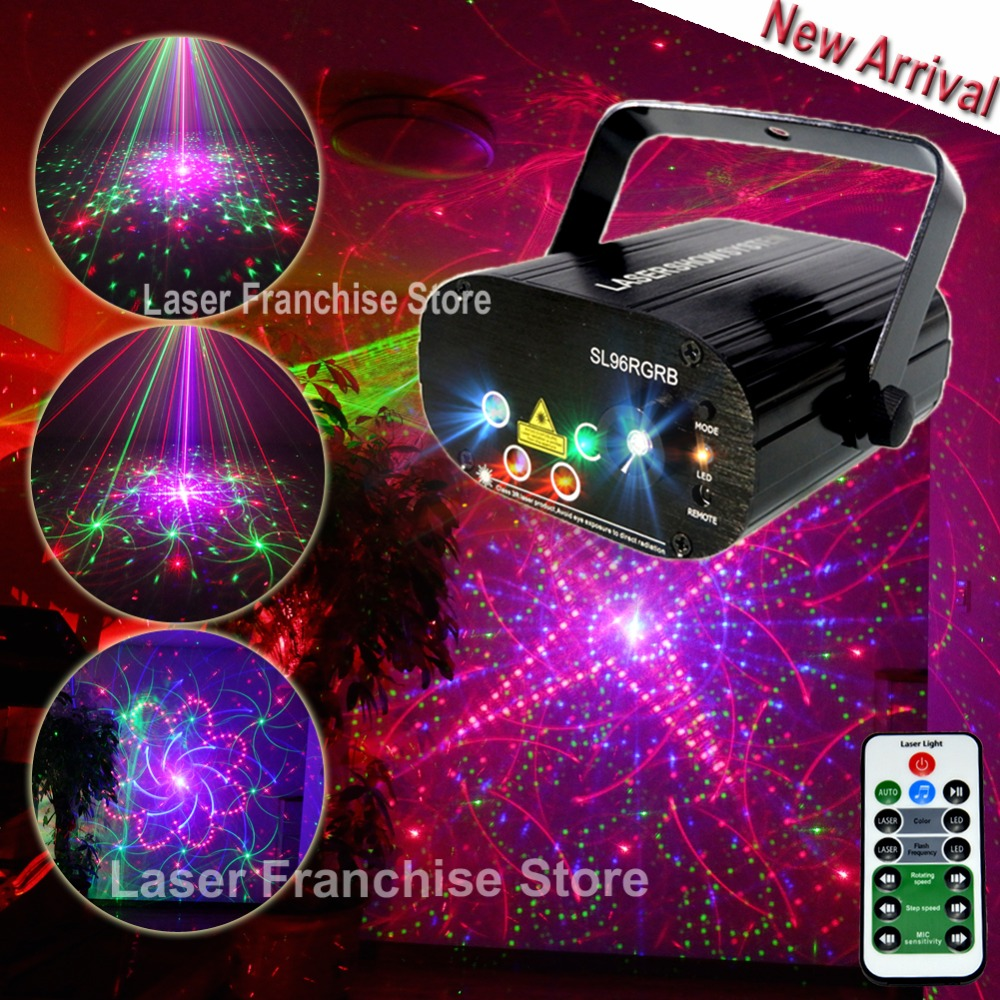 Chims Stage Light RGB Disco Laser 96 Pattern Laser Light DJ Led Lights Effect Colorful Party Projector Laser Show Xmas Music Bar atotalof 24 patterns rgb mini laser projector light dj disco party music laser stage lighting effect with led rgb xmas lights