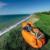 Rápido de aire inflable sofá 50*70*210 cm Que Acampa plegable Portable impermeable Aire Sofá Cama De Playa al aire libre para adultos aire saco de dormir Perezoso