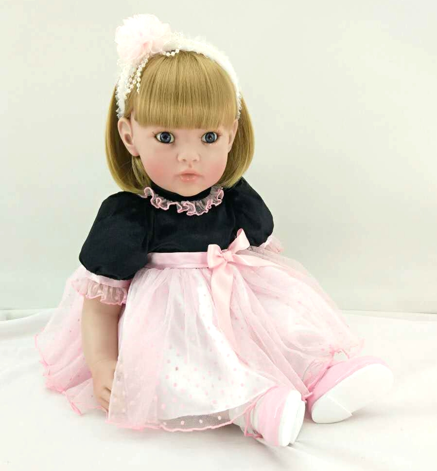 New Silicone Reborn Baby Doll Toys Lifelike Lovely Princess Babies Vinyl Toddler Dolls Birthday Christmas Gifts Girls Brinquedos 50cm silicone reborn babies doll toys lifelike vinyl lovely princess toddler doll kids birthday gift child girl brinquedos