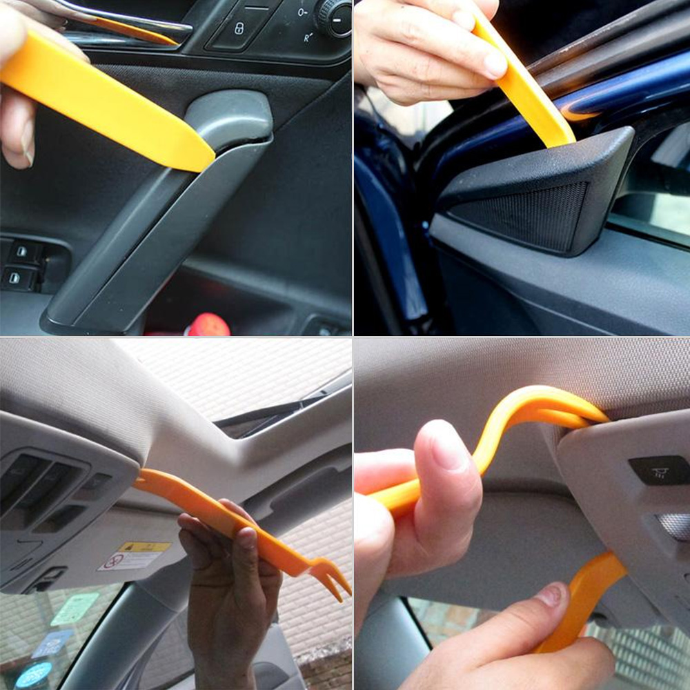 4PCS Car Panel Removal Tool Radio Door Molding Trim Dashboards Audio Removal Installer Pry Repair Kit Clip Panel Durable Tools