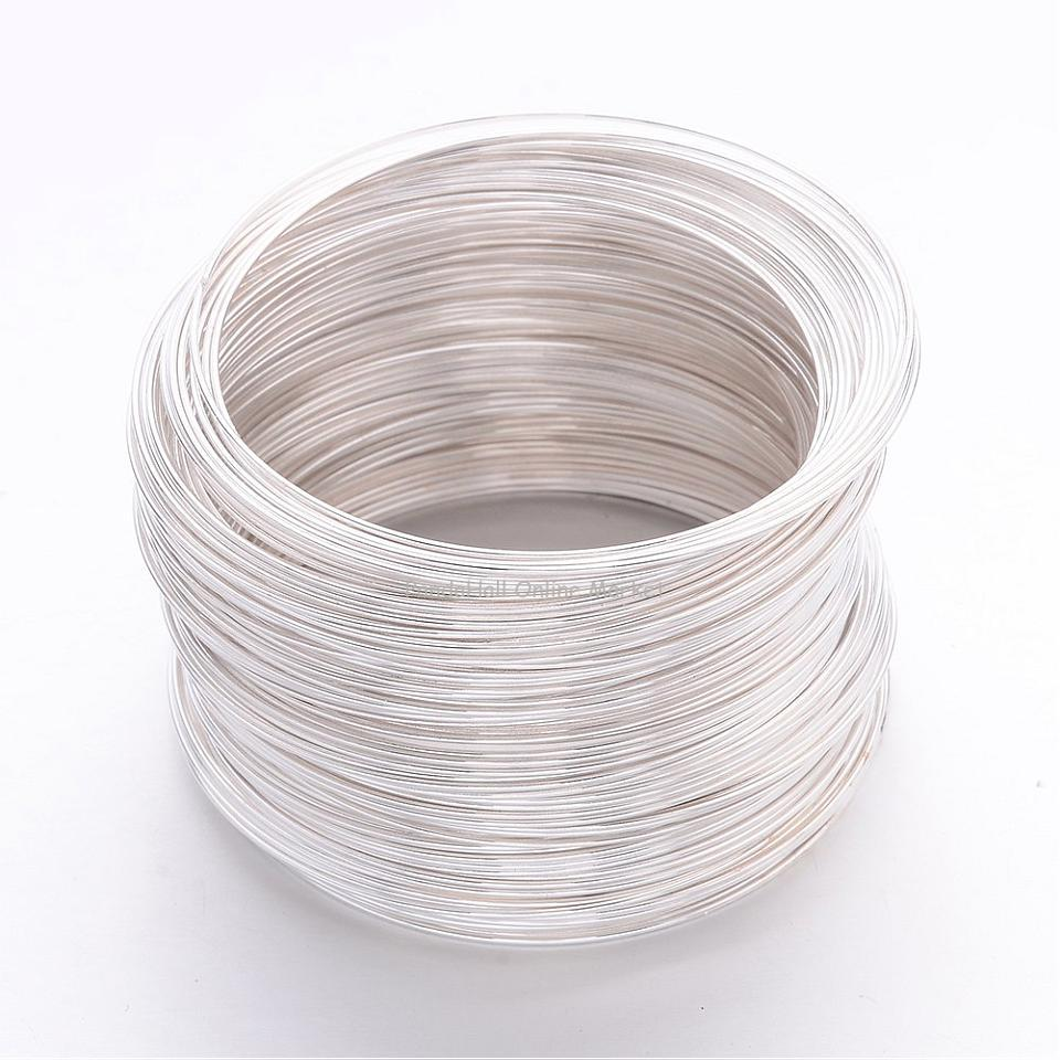 Steel Bracelet Memory Wire, Silver, about 55mm inner diameter, wire ...
