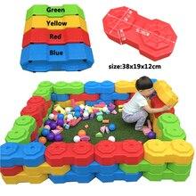 YLW тип пластиковые строительные блоки игрушки Счастливые большие блоки детские большие пластиковые Кирпичи Детские домашние игрушки для игровой площадки
