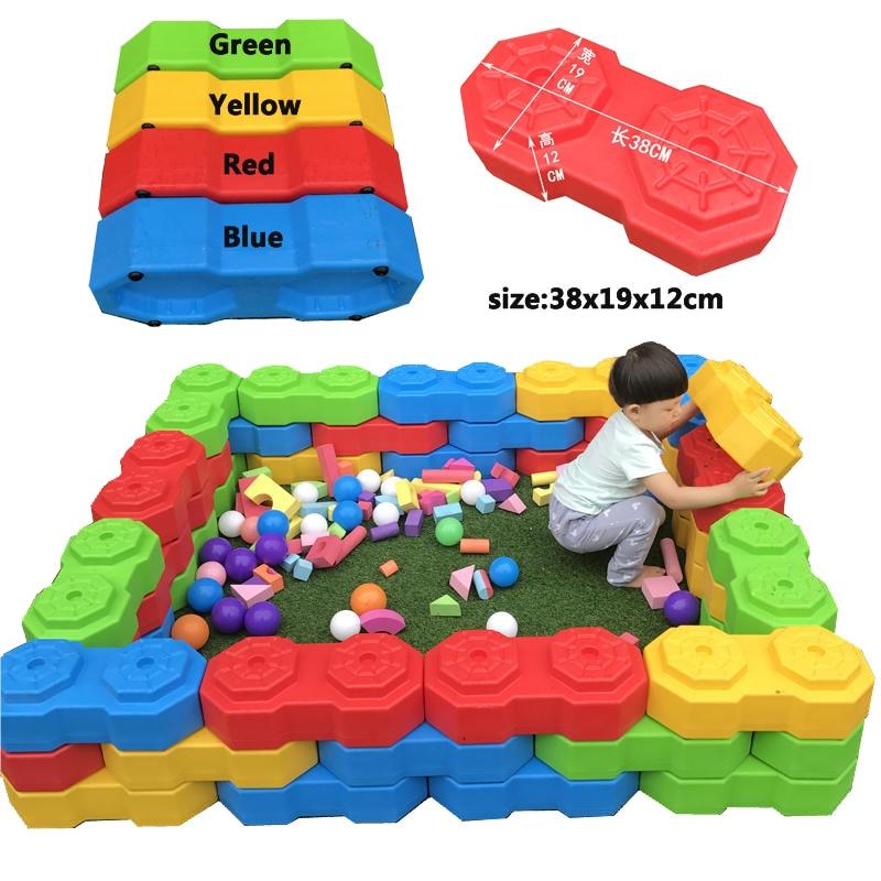 YLW New Type Plastic Building Blocks Toys Happy Big Blocks Children's Big Plastic Bricks Kids Indoor Playground Toys