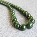 New Fashion 6-14mm Natural Green Jade Necklace gift women girls beads stones jade 18inch Jewelry making design wholesale