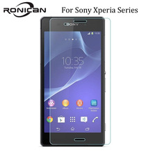 RONICAN 2.5D Tempered Glass For Sony Xperia Z1 Z2 Z3 Z4 Z5 Compact M2 M4 Aqua M5 Screen Protector Toughened Glass Film