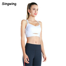 Singwing 2018 Sexy Sports Bra Breathable Fitness Stretch Underwear Push Up Yoga Bras Sexy Back bra The gym Tops