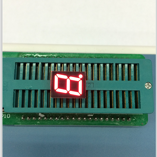 Free Ship 100pc common cathode led digital tube 0.39inch 1 bit digital tube display Red color factory direct led digital tube
