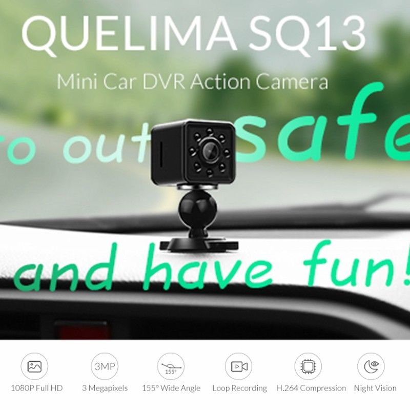 8G Card+Quelima SQ13 WiFi DVR Recorder Night Vision Mini Camera 1080P HD USB 5 8g 32 channels 400mw hd 1080p fpv wireless transmitter dvr camera