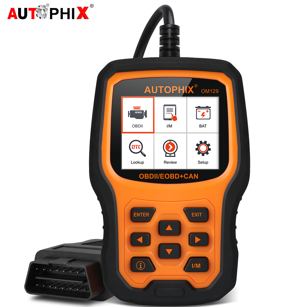 Autophix OM129 Car Diagnostic Tool Enhanced Automotive OBD2 Scanner