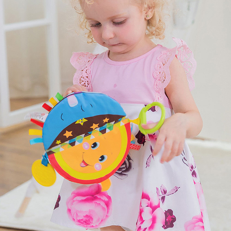 Kid Baby Intelligence development Cloth Fabric Cognize Book Educational Toy