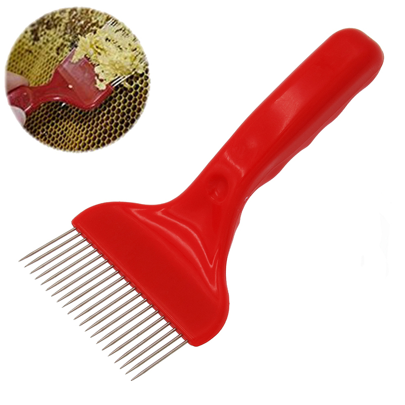 DLKKLB 1Pc 21 Pin Stainless Steel Tines Comb Good Quality Hive Equipment Apiculture Cut Honey Fork Bee Beekeeping ToolsDLKKLB 1Pc 21 Pin Stainless Steel Tines Comb Good Quality Hive Equipment Apiculture Cut Honey Fork Bee Beekeeping Tools