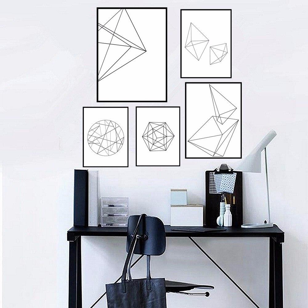 modern nordic minimalist graphic design geometric canvas