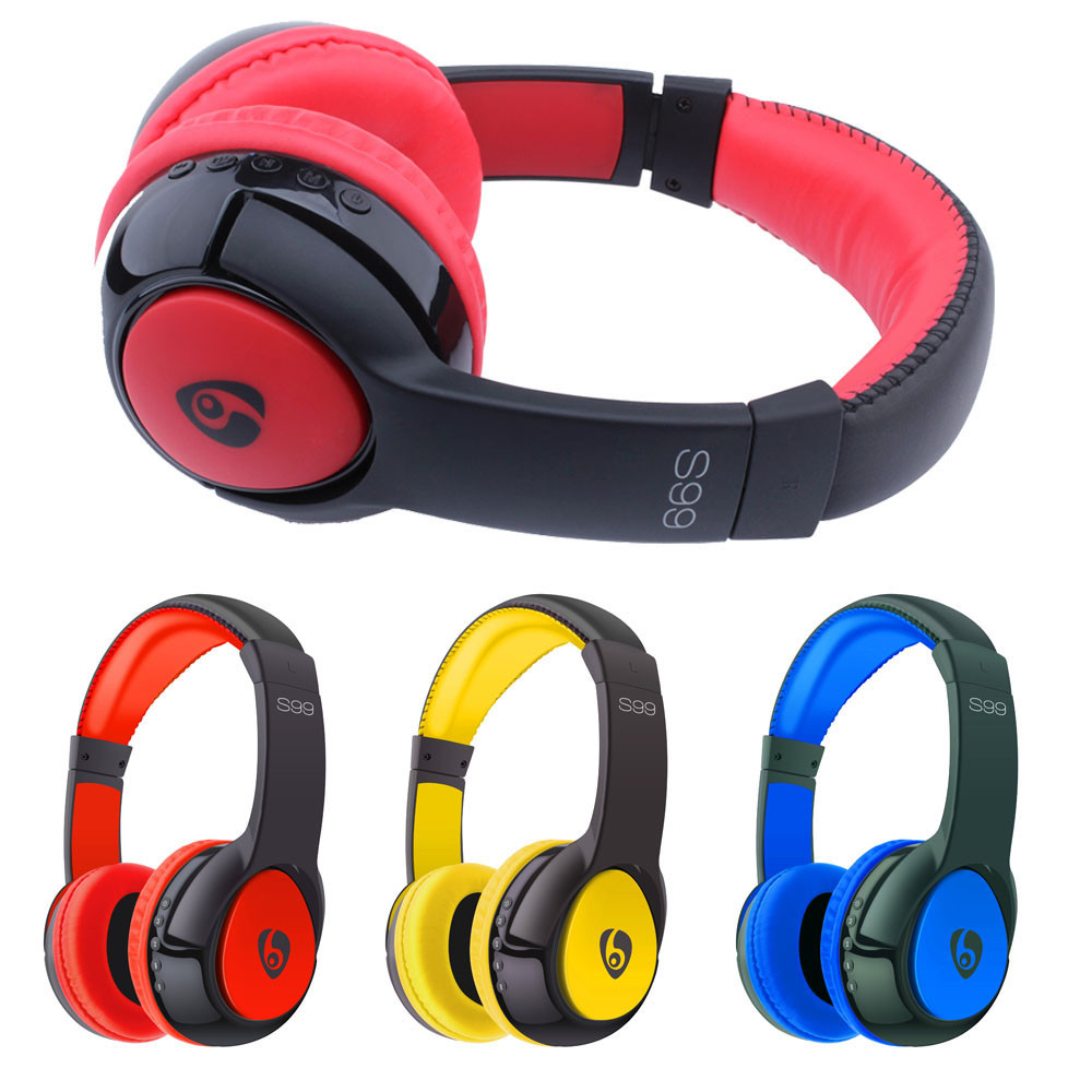 Wireless Bluetooth Stereo Headset Earphone Headphone with Micro SD Card Stereo Foldable Sport Earphone Supports Bluetooth 3.1