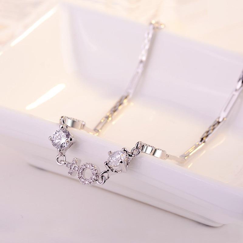 925 bijoux plaqué rhodium pendentif chaîne bracelet, fine haut tendance qualité vente en gros et au détail bracelets