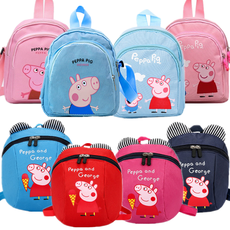Peppa Pig Package Shoulder Backpack Packet Bag Cartoon Decoration Wallet George Blue Girl Fashion Anime Action Figures Best Gift