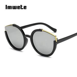 0b748187d68944 ROSANNA Cat Eye Sunglasses Women Half Frame Sun Glasses
