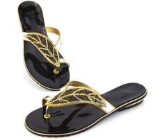 Doershow sandálias de qualidade Garantida Africano para o partido, belos sapatos das senhoras com strass!! DD1-73
