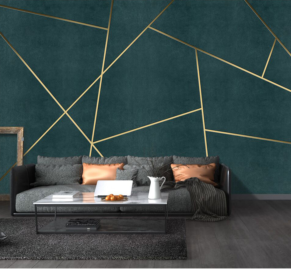 Bacaz Custom Concrete Geometric Wallpaper 3d Wall Sticker For Living Room Background 3d Geometric Wall Decor Print 3d Wall Mural