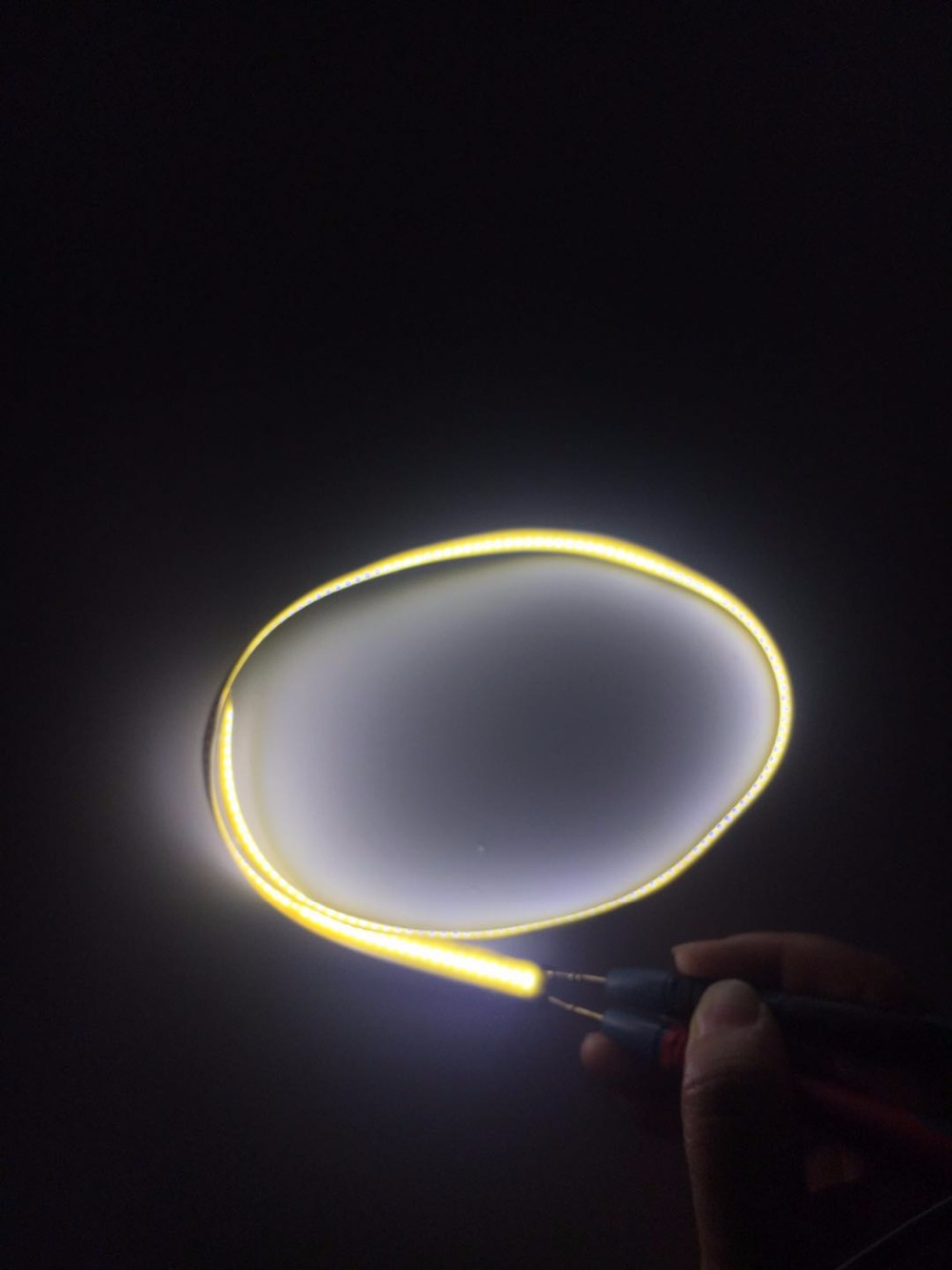 New Flexible FR4 cob led strip DC3-4V 5W 180 led chips L550X10MM 3000k RA80 500LM No spot Linear light For DIY SIZE design