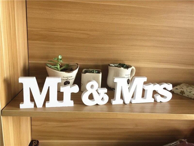 Mr & Mrs свадьба знак Свадебные украшения Mr & Mrs буквы маркировки фоторамку