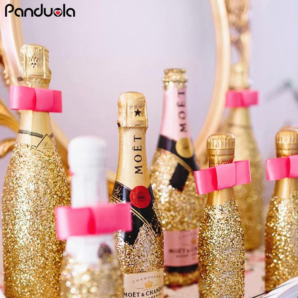 Black and Gold Bottles Glasses Confetti Table Confetti Birthday Paty Decoration